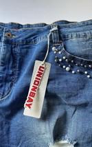 Union Bay Women's Shorts Hean Plus Size 24 Cut Off Distressed Embellishe... - $13.46