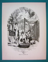 JAPAN Toilette of Lady of Rank - 1866 Antique Print  - $16.20