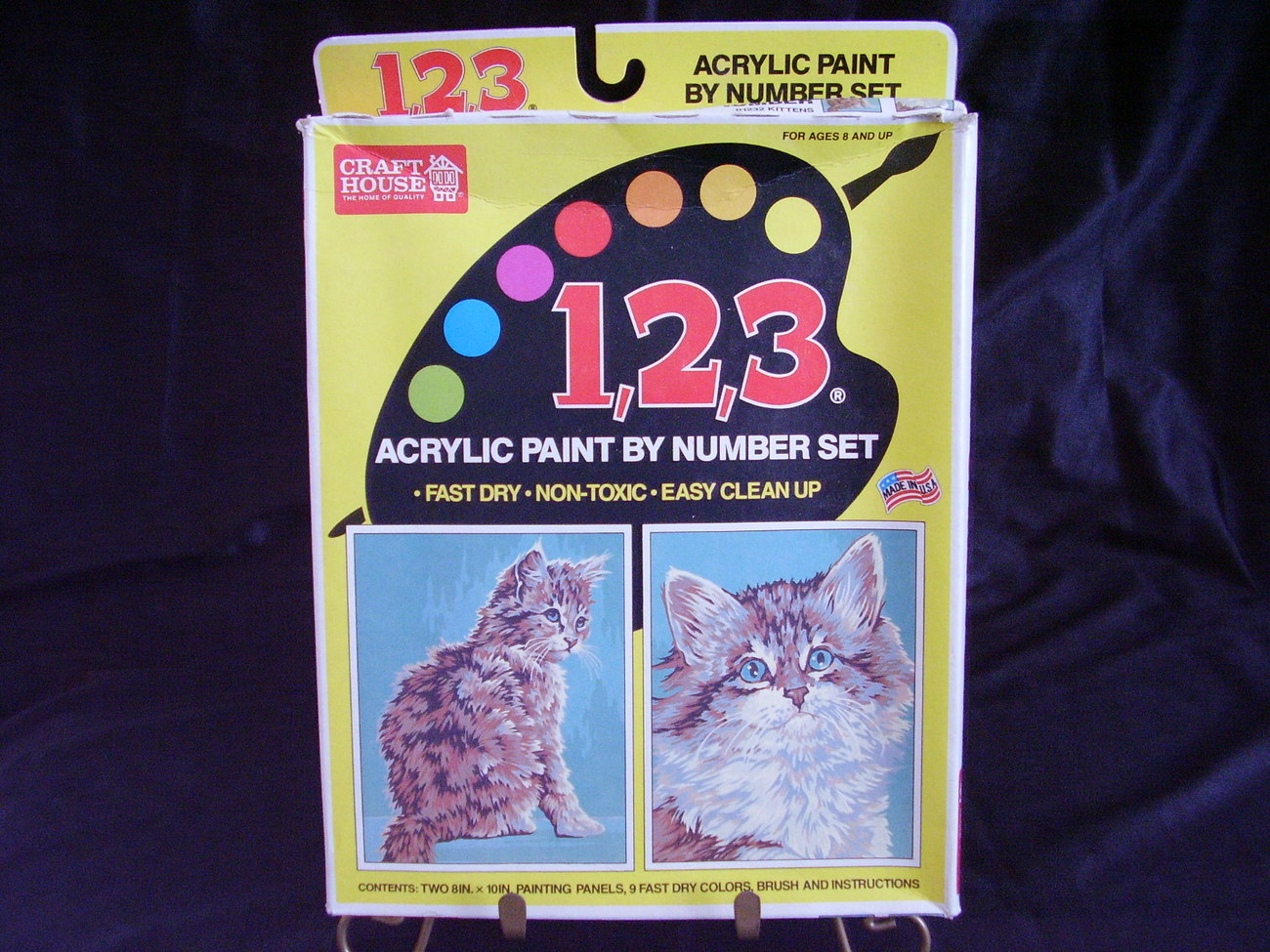 Paint By Numbers Kit NIB Kittens Cats #01232  B