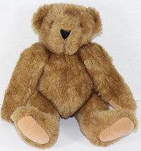Vermont TEDDY BEAR COMPANY HONEY BROWN JOINTED Stuffed Plush Animal SOFT... - $21.77