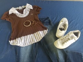 Skinny Jeans/Casual Top For Girls  - $35.00