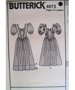 Butterick 4673 Vintage 80s Unused Womans Brides Maid Dress - $9.95