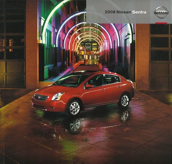 2008 Nissan SENTRA sales brochure catalog US 08 2.0 S SL SE-R Spec V