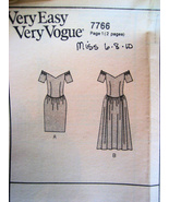 Vogue 7766 Vintage 80s Unused Womans Brides Maid Dress - $9.95