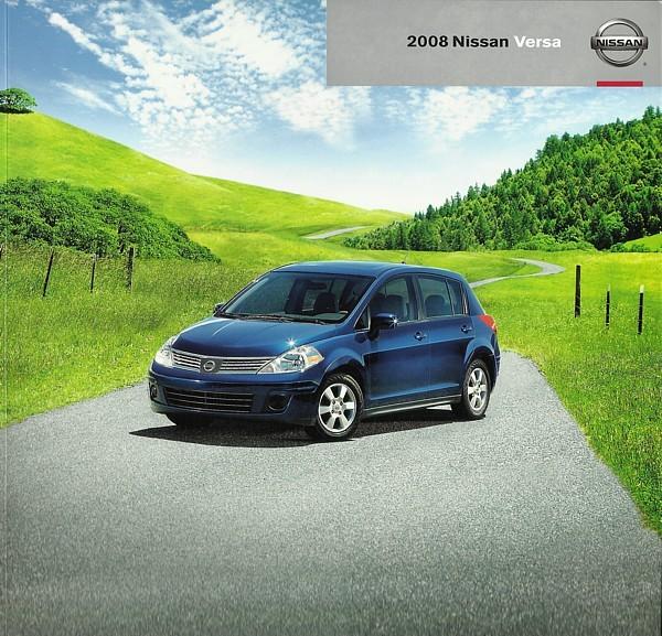 2008 Nissan VERSA sales brochure catalog US 08 1.8 S SL