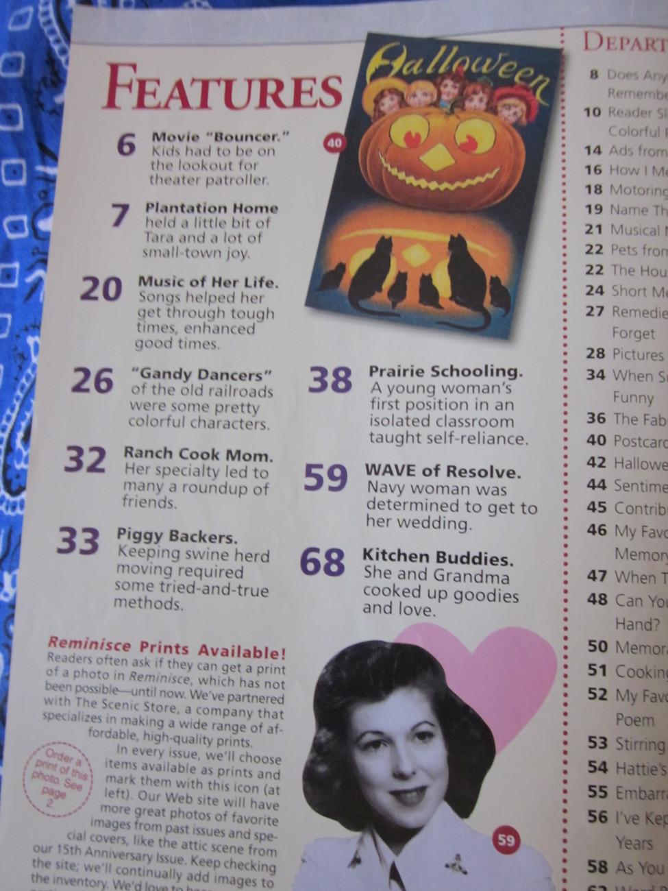 Reminisce Magazine Back Issue Oct / Nov  2009