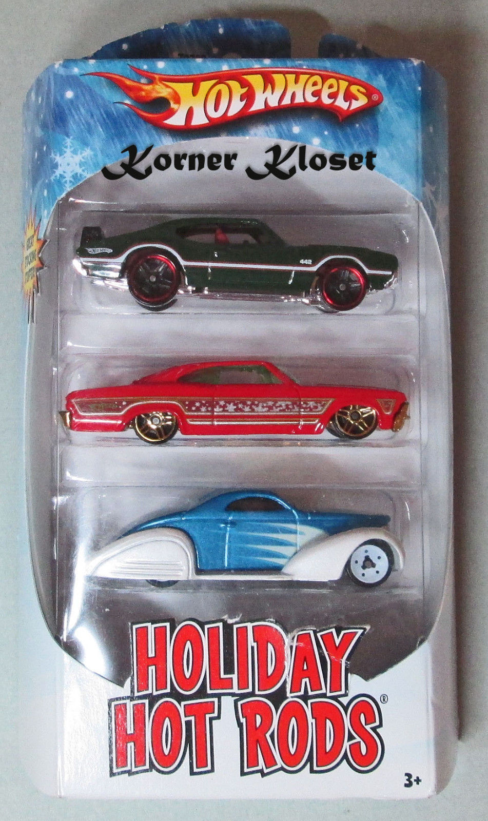 "Primary image for Holiday Gift Pack - Mattel Hot Wheels ""Holiday Hot Rods"" - 3 Pack - NIB"