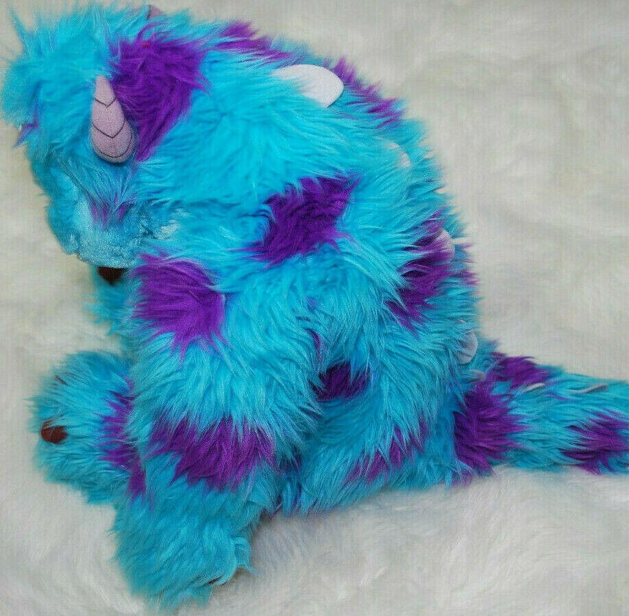 "Monsters Inc Sitting Sully Plush Toy Disney Pixar 20"" Stuffed Animal Blue Purple"