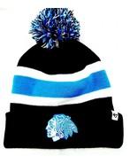 CHICAGO BLACKHAWKS KNIT BEANIE HAT SKI CAP BREAKAWAY BLACK/BLUE CUFFED T... - £11.99 GBP