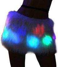 Women's Mini Led Light up Faux Fur Skirt image 3