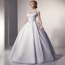 Sexy Illusion Backless Romantic Lace Ivory White Ball Gown Wedding Dress image 5