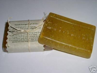 4 oz ORANGE PEEL SOAP Handmade 100% Natural Glycerin Vegan
