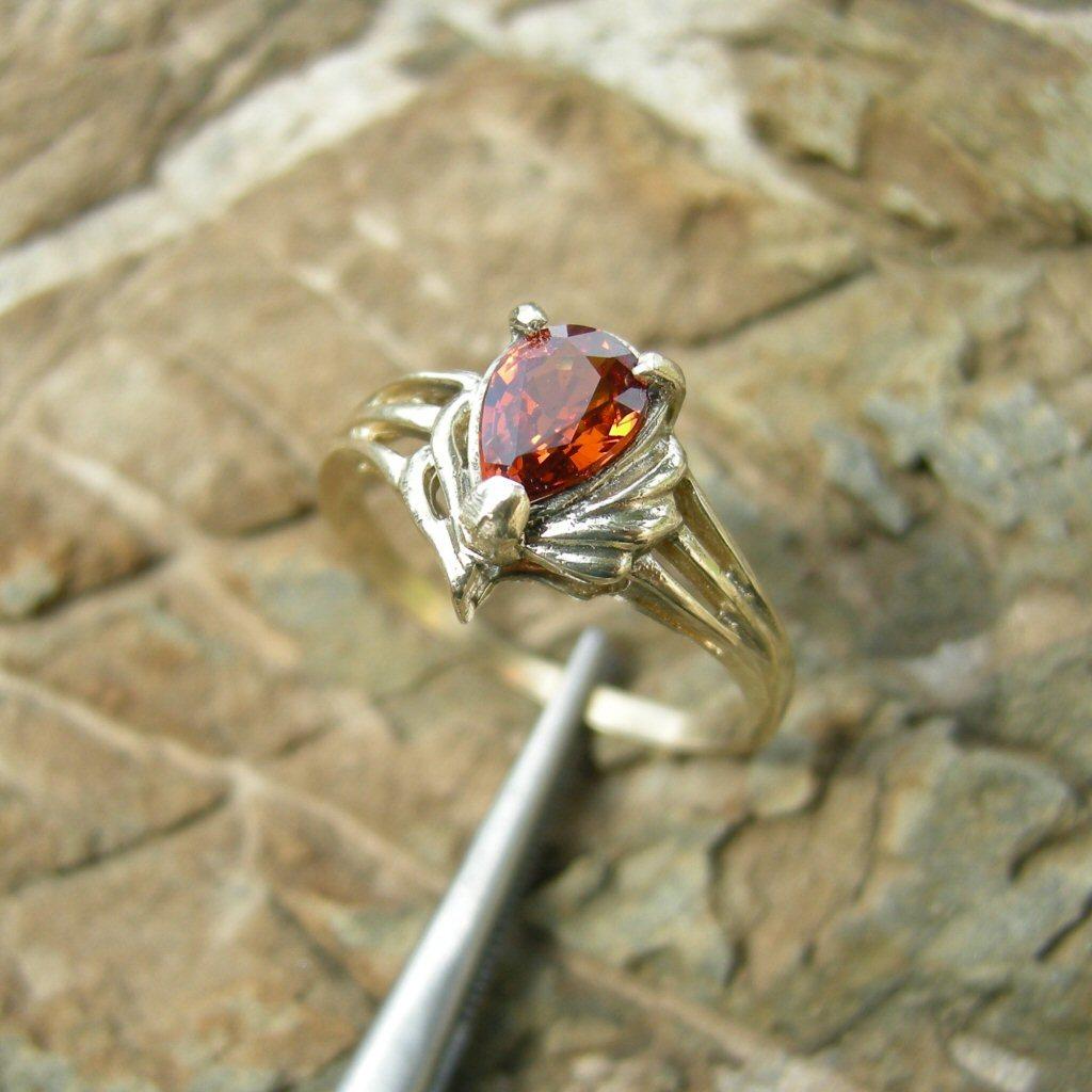 1ct Spessartine Garnet 10k Yel Gold Ring