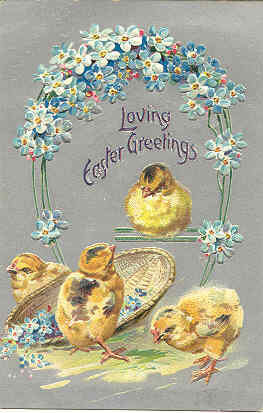 Loving Easter Greetings Tuck and Son 1908 Vintage Post Card
