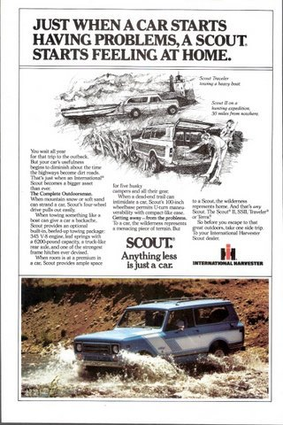1979 International Harvester Scouts Traveler print ad