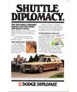 1978 Dodge Diplomat Wagon Shuttle Diplomacy print ad - $10.00