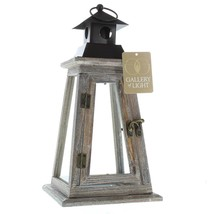 ELEVATE WOODEN CANDLE LANTERN - $26.68
