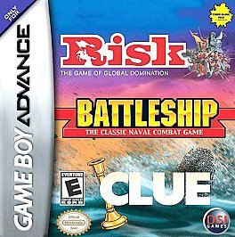Primary image for Risk / Battleship / Clue Nintendo Game Boy Advance, 2005 FREE SHIPPING U.S.A.
