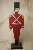 Vintage Handmade Handpainted Wood Christmas Soldier Articulating Arms - $39.58
