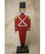 Vintage Handmade Handpainted Wood Christmas Soldier Articulating Arms - $39.58