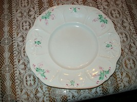 Antique Staffordshire Sprig Ware hand painted Soft Paste plate - $23.92