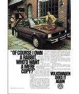 1977 Volkswagen Rabbit original magazine promo print ad - $10.00