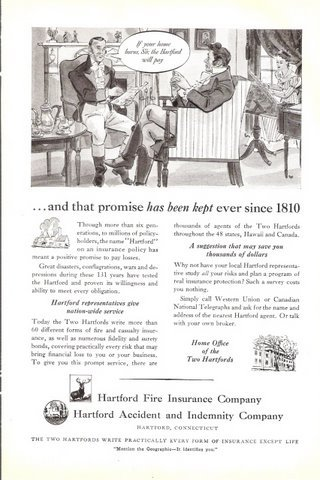 1941 Hartford Fire Insurance Accident Indemnity Co. ad
