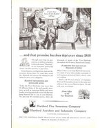 1941 Hartford Fire Insurance Accident Indemnity Co. ad - $10.00
