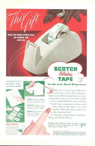 1941 Scotch Cellulose Tape magazine promo print ad