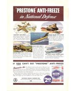 1941 Eveready Prestone Anti-Freeze Military print ad - $10.00