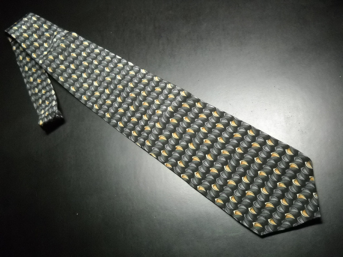 Stonehenge Cocktail Collection Neck Tie Vodka Greens Gray Golds Black Silk