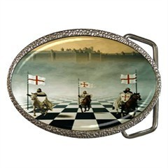 MASONIC MASON KNIGHTS TEMPLAR BELT BUCKLE CHROME FINISH