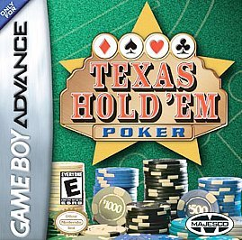 Primary image for Texas Hold 'em Poker Nintendo Game Boy Advance, 2004 FREE SHIPPING U.S.A.