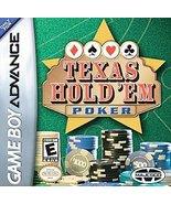 Texas Hold 'em Poker Nintendo Game Boy Advance, 2004 FREE SHIPPING U.S.A. - $11.85