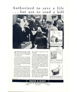 1930 Baure & Black sterile surgical dressings print ad - $10.00