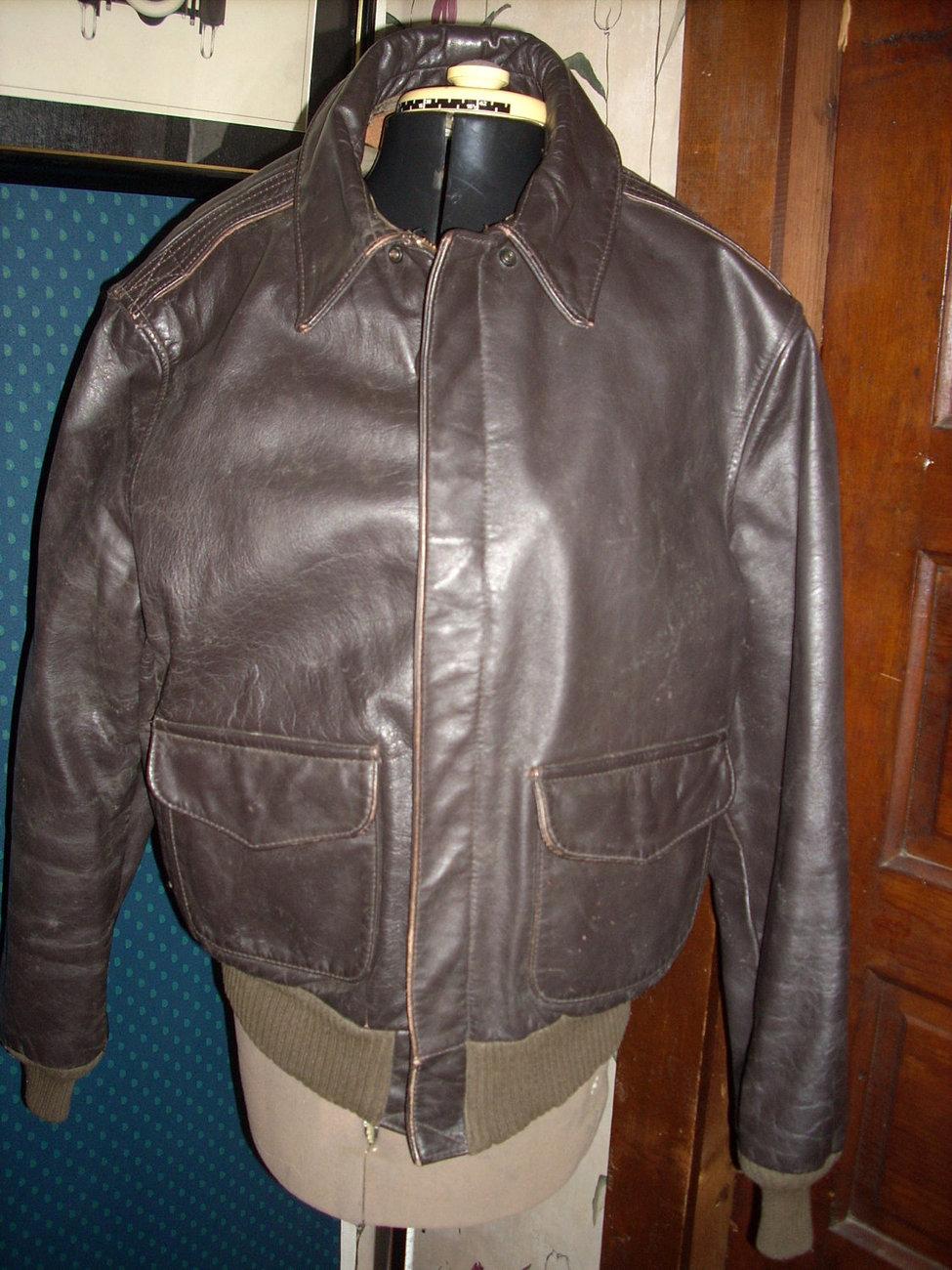 Avirex leather bomber jacket