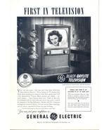 1952 GE black daylite tv Joanne Wheatley print ad - $10.00