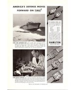 1942 Hamilton watch P.T. Boats Boy & doctor print ad - $10.00