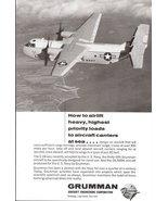 1965 Grumman Aircraft Engineering Co. C-2A print ad - $10.00