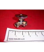 "3 way Shut Off Valve Dual Outlet 1/2""IPS x 2-1/2"" MIP or 7/16"" slip joint - $10.17"