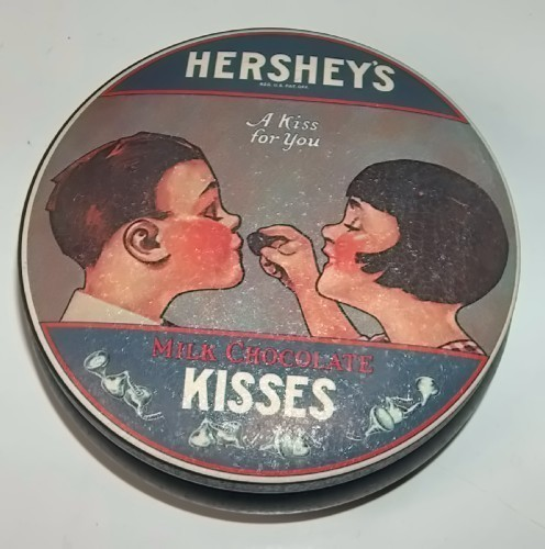 Hershey's Kisses Vintage Tins Set of Two