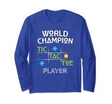 Cool Shirt -World Champion Tic Tac Toe Player Funny T-Shirt Boys Girls Men - $19.95+