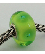 Authentic Trollbeads Murano Glass Peter Green Bubbles  Bead Charm 61178 New - $23.75