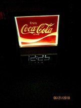 ENJOY COCA-COLA LIGHTED 1970'S EVERBRITE ELECTRIC DIGITAL WORKING WALL C... - $232.75