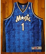 Authentic 2000-01 Champion Orlando Magics Tracy McGrady Road Away Blue J... - $309.99