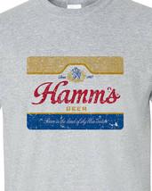 Hamm's Beer T-shirt retro vintage style distressed print grey graphic tee image 2