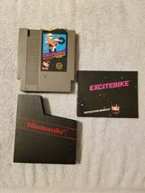 Nintendo NES EXCITEBIKE Game Cartridge Manual Dust Sleeve Tested Works P... - $16.95