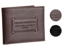 Tommy Hilfiger Men's Premium Leather Credit Card ID Wallet Passcase 31TL220061