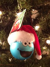 Christmas Ornament Blown Glass Cookie Monster Sesame Street Kurt Adler - $7.78