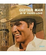 ELVIS PRESLEY Guitar Man  Faded Love 1981 With Picture Sleeve Vinyl 45 - $7.87